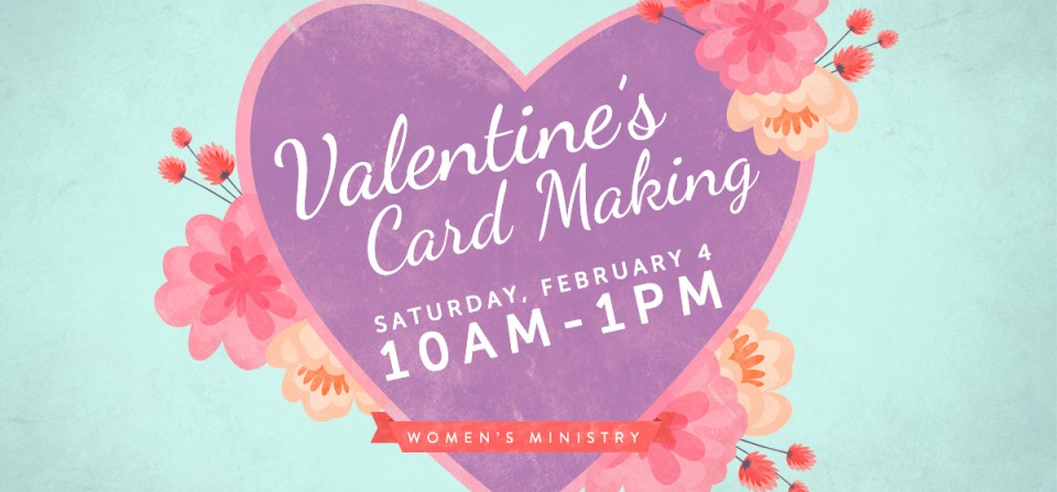 Women's Ministry Card Making Event